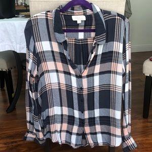Olive & Oak plaid button up shirt